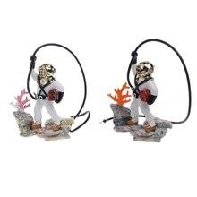 Aquarium Fish Tank Sea Treasure Diver Hunter Air Action Ornament Decoration Gift Akvaryum Dekor