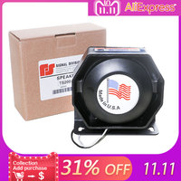 1pc 12V 200W PA Car Horns Black Metal Flat Speaker Ultra Slim Loudspeaker Megaphone Electronic Speaker Warning Alarm Fire