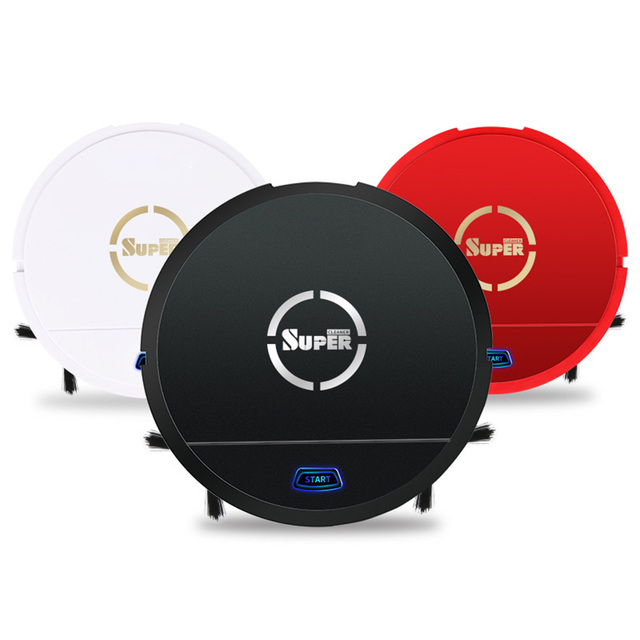 Auto Robot Rechargeable Vacuum Cleaner Smart Sweeping Robot Floor Dirt Dust Hair Cleaner Electric Intelligent Robot kdcw1