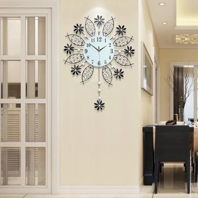 3d big swing horloge murale design moderne mur montres. Black Bedroom Furniture Sets. Home Design Ideas