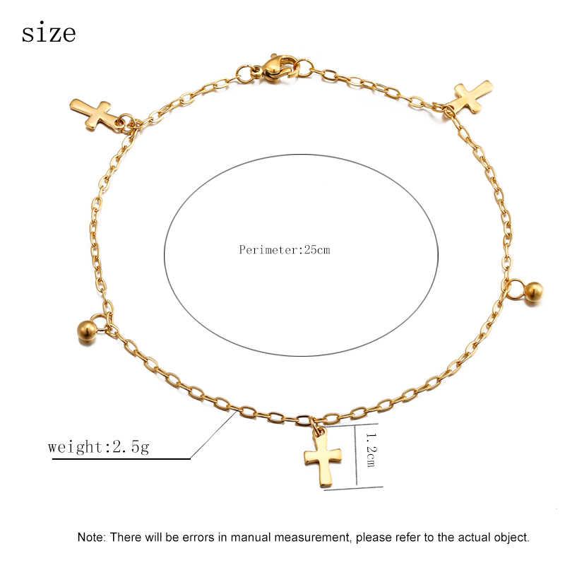 Nowe mody seksowny krzyż wisiorek anklet bransoletka na kostkę boso sandały stopy anklet biżuteria nadaje się dla kobiet prezenty świąteczne