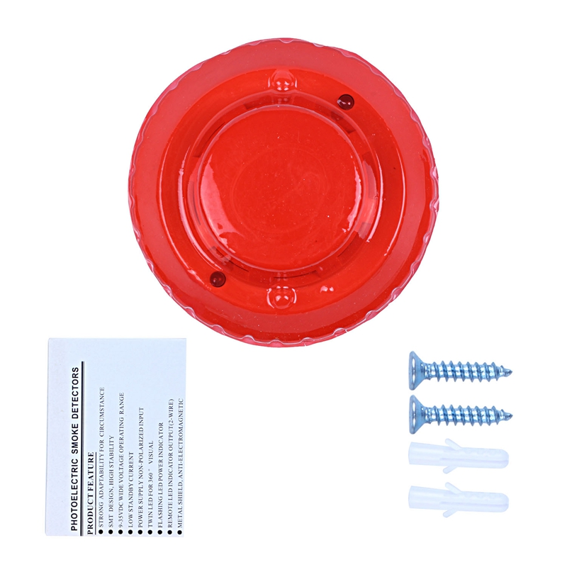 Security Photoelectric Smoke Fire Detector Sensor 4 Wire Connection Points                                                    #8