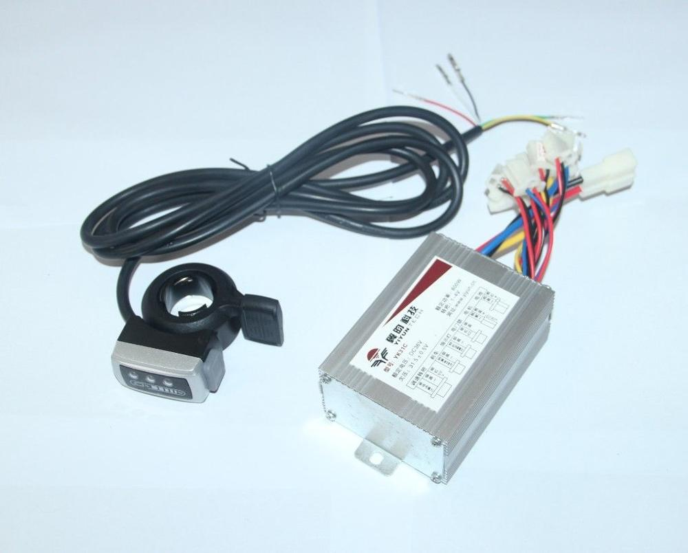 36V 500W Electric Bike Scooter Motor Brush Speed Controller Throttle Foot Pedal