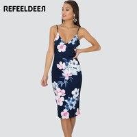 Refeeldeer Summer Strap Dress Women 2017 Plus Size Backless Midi Party Beach Boho Dresses Sundress Robe
