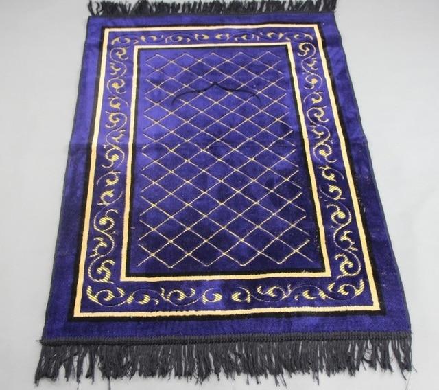 Velvet Flocked Jacquard Ic Muslim Prayer Mat Blanket Salat Mus Rug Tapis Tapete Banheiro Praying Carpet