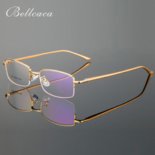 Bellcaca Eyeglasses Spectacle Frame Men Computer Optical Prescription Glasses For Male Clear Lens AL-MG Eyewear BC779