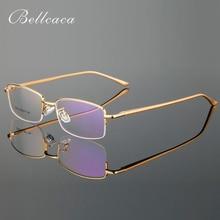 Bellcaca Eyeglasses Spectacle Frame Men Computer Optical Prescription Glasses For Male Clear Lens AL-MG Eyewear BC779