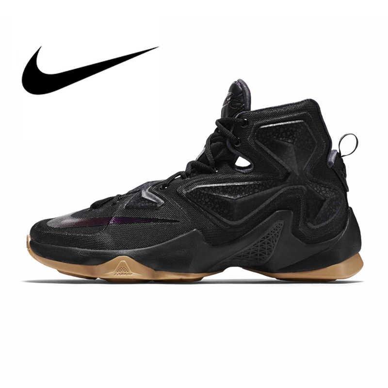 Оригинальный Nike Оригинальные кроссовки Для Мужчин's футболка с надписью LEBRON EP Линдона Джонсона 13 высокие баскетбольные кроссовки спортивные удобные хорошее качество спорта на открытом воздухе кроссовки 807220