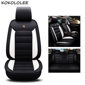 kokololee pu leather car seat cover For chevrolet captiva kia rio 2018 seat cordoba bmw x5 e70 x3 car styling auto accessories