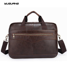 Leather bag Business Men bags Laptop Tote Briefcases Crossbody bags Shoulder Handbag Men's Messenger Bag