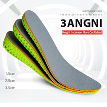 все цены на 3ANGNI 1.5-3.5cm Height Increase Elevator Insole Cushion Lift Free Size Shoe Insole Women Men Quality EVA Foam Ortholite  Insert онлайн