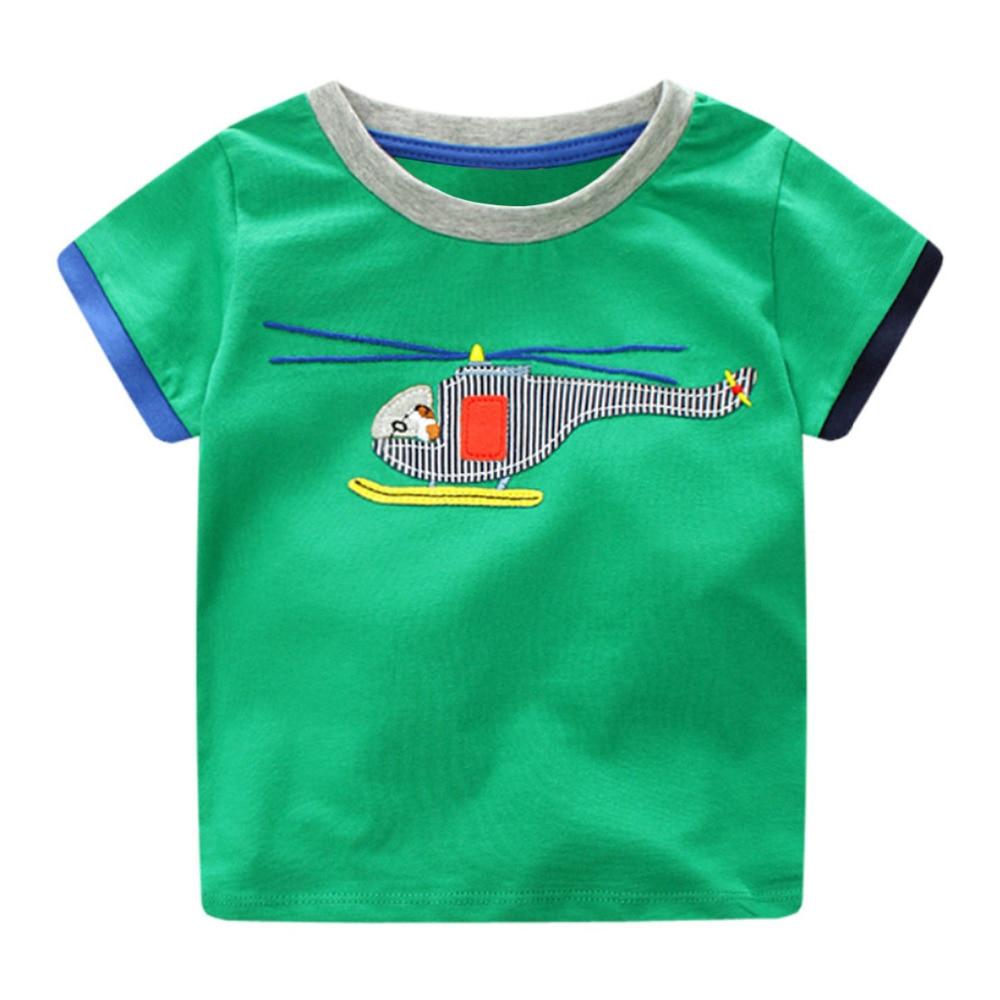 Boys Baby Topy Koszulki z krótkim rękawem T-shirt motoryzacyjny - Ubrania dziecięce - Zdjęcie 3