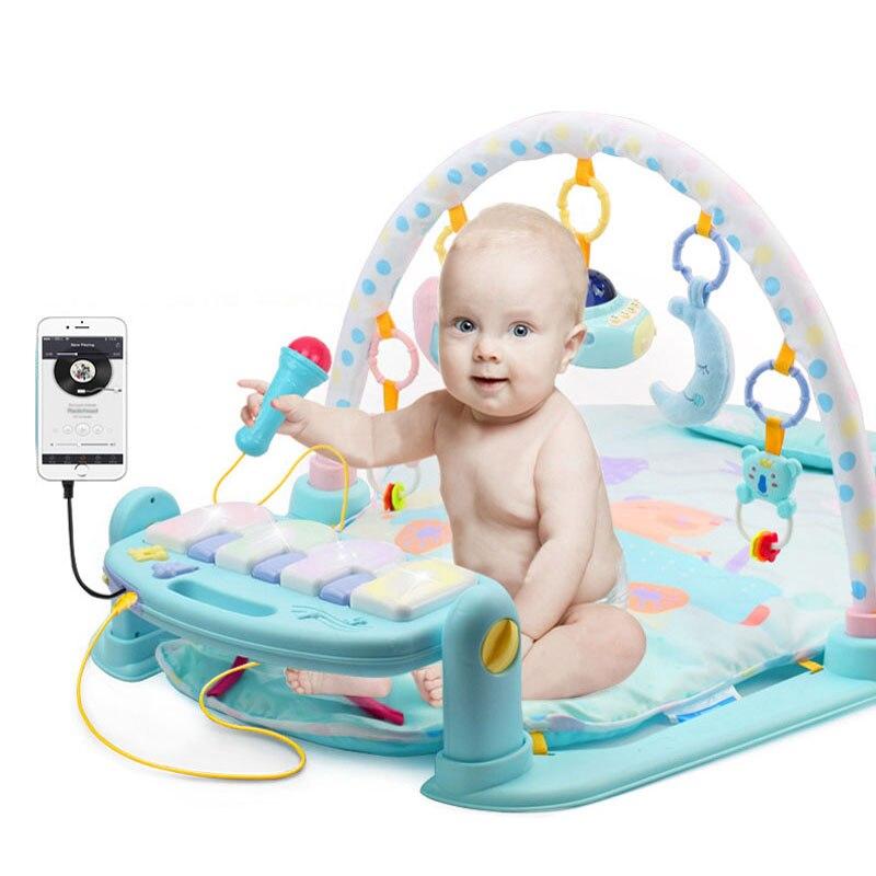 Bébé Piano musique tapis de jeu jouets activité infantile enfants tapis de sport Gym doux bébé jouer tapis jeux éducatifs Rack Gym jouets 0-36 mois