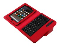 Removable Wireless Bluetooth Russian Hebrew Spanish Keyboard Stand PU Leather Cover Case For Amazon Kindle Fire