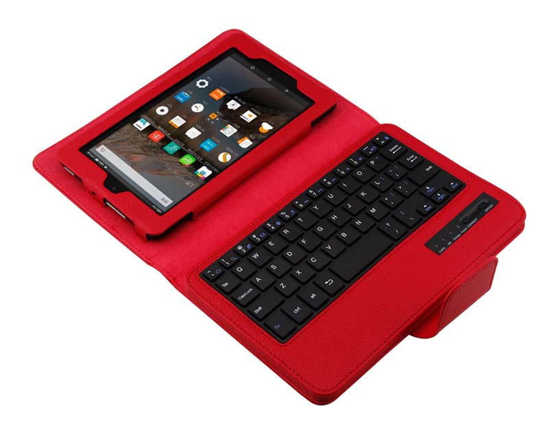 Removable Wireless Bluetooth Russian/Hebrew/Spanish Keyboard Stand PU Leather Cover Case For Amazon Kindle Fire HD7 2015 Tablet produino acs712elc 20a range acs712 current sensor module for arduino blue