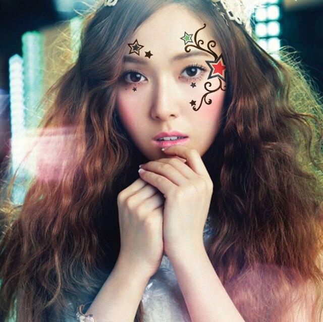 2pcs Lot Halloween Henna Tattoo Star Eye Sticker Face Sticker Makeup