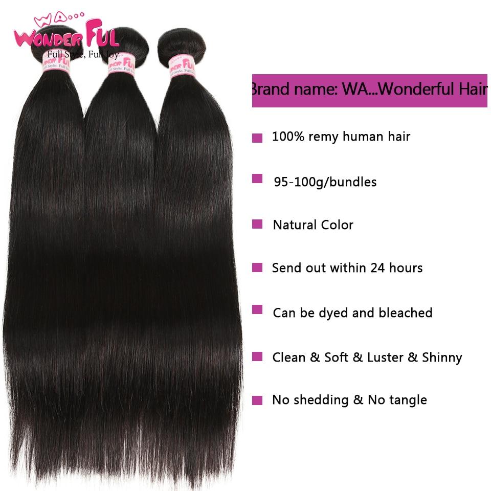Peruvian Hair Bundles Straight Hair 3 Bundles With Closure Joedir - Skönhet och hälsa - Foto 2