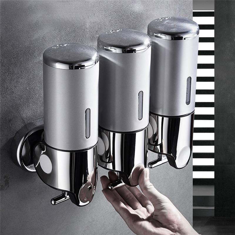 Wall - Mounted Three - Head Bathroom Soap Dispenser Shampoo Hand Sanitizer 3 Bottles 1500ML For Bathroom Shower Soap And Shampoo