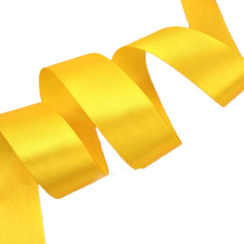 (25 ярдов/рулон) 40 мм оранжевый желтый Тесьма украшение лента Одноместный Уход за кожей лица атласная лента Подарочная Рождество Ленты