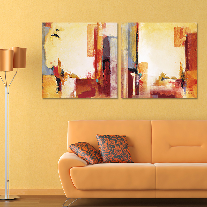 Fantastic Orange And Brown Wall Decor Image Collection - Wall Art ...