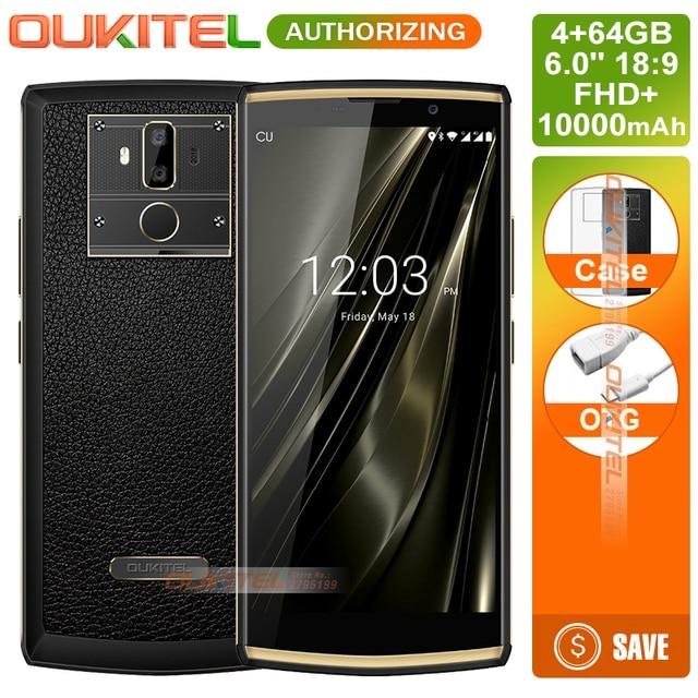 Oukitel K7 18:9 Full Display 6.0''FHD 4GB+64GB S MT6750T Octa Core 13MP dual-lens Camera 10000mAh 9V/2A Mobile Phone