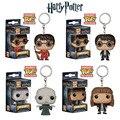 Funko POP Filmes Chaveiro relógio de Bolso Harry Potter Hermione Granger Lord Voldemort Figura de Vinil Personagens Decoração Presente de Natal