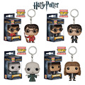 Funko POP Movies Harry Potter Keychain Pocket Hermione Granger Lord Voldemort Vinyl Figure Characters Decoration Christmas Gift