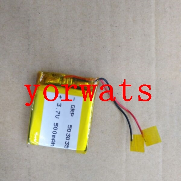 New Hot A Rechargeable Li-ion Cell 3.7V lithium polymer battery 503035 <font><b>053035</b></font> 500mah direct sale image