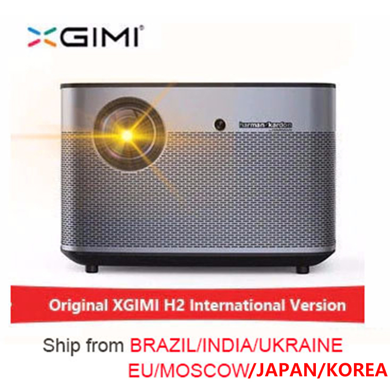 XGIMI H2 1920*1080 dlp Full HD  projector 1350 ANSI lumens 3D  projector Support 4K Android wifi Bluetooth beamer(China)
