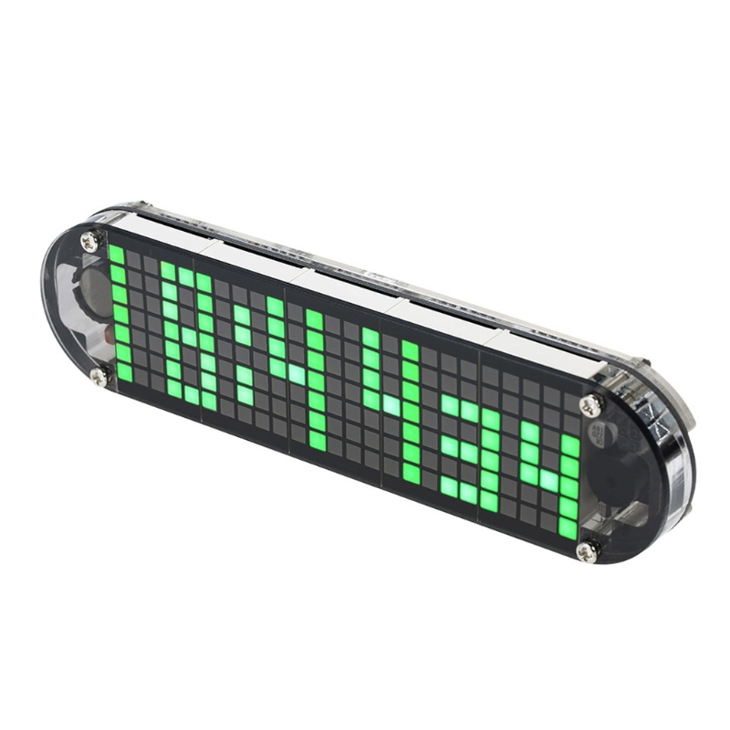 DS3231 Multifunction Alarm Clock LED Dot Matrix Animation Effects DIY Kit Gifts image