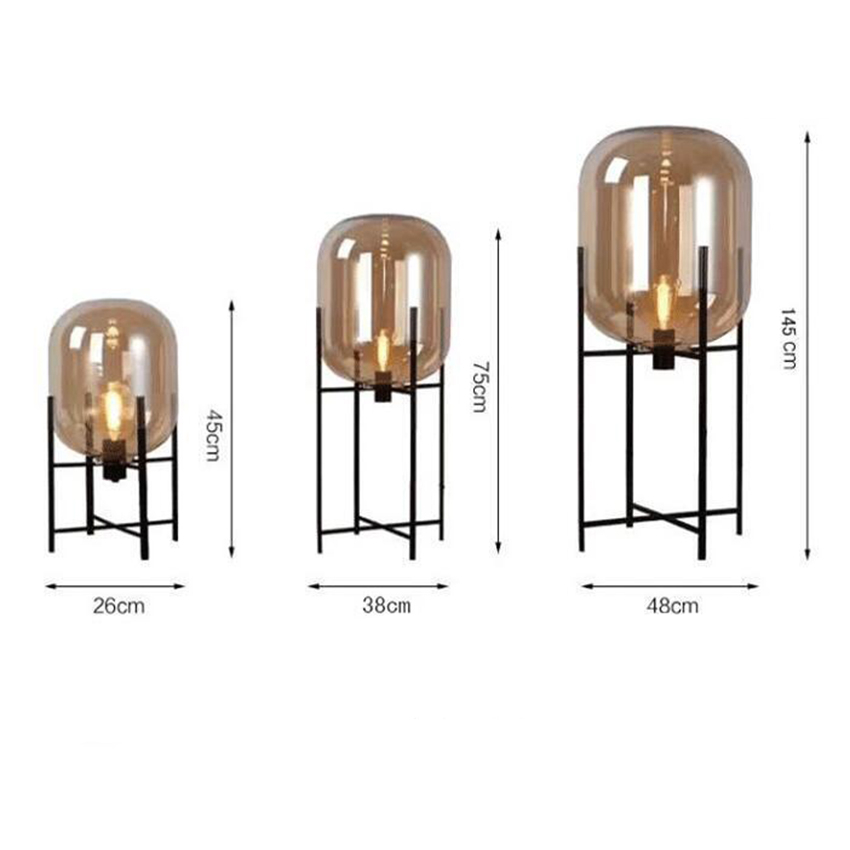 58fc4c04dafd4 Original Glass Floor Lamp Art Deco Floor Light Amber Smoky Colour Wrought  Iron Stent Living Room Country House Bar Hotel Bedroom-in Floor Lamps from  Lights ...
