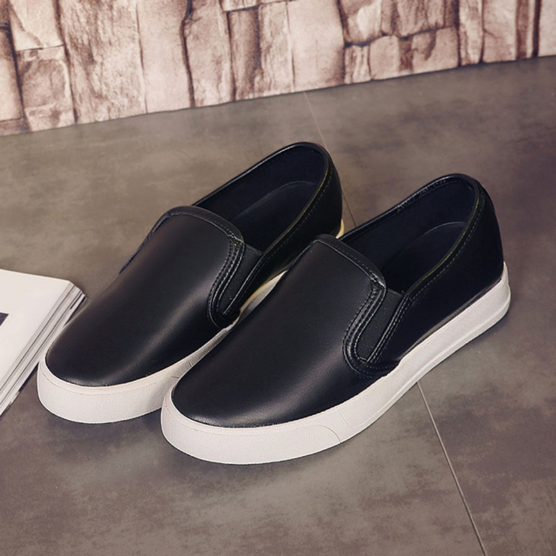 ФОТО Casual Shoes Woman 2016 Loafer Women Famous Genuine Leather Flat Shoes Women Designer Loafers brand Ladies Shoes Drop Shipping