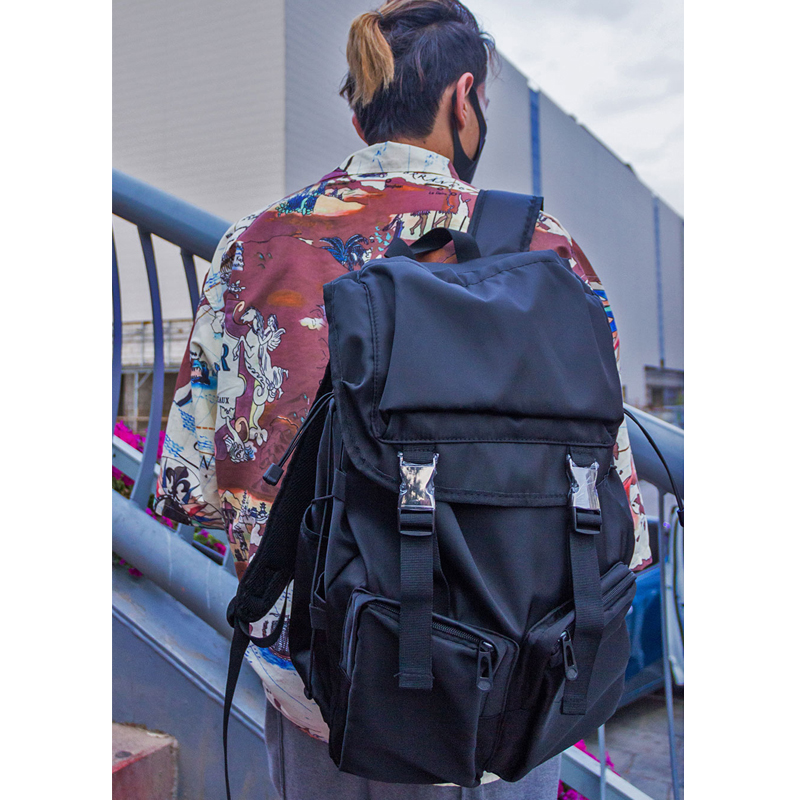 2019 Functional Backpack Men Streetwear Hip Hop Male Travel Backpack Bag Large Capacity Cool College Computer Backpack for Men image