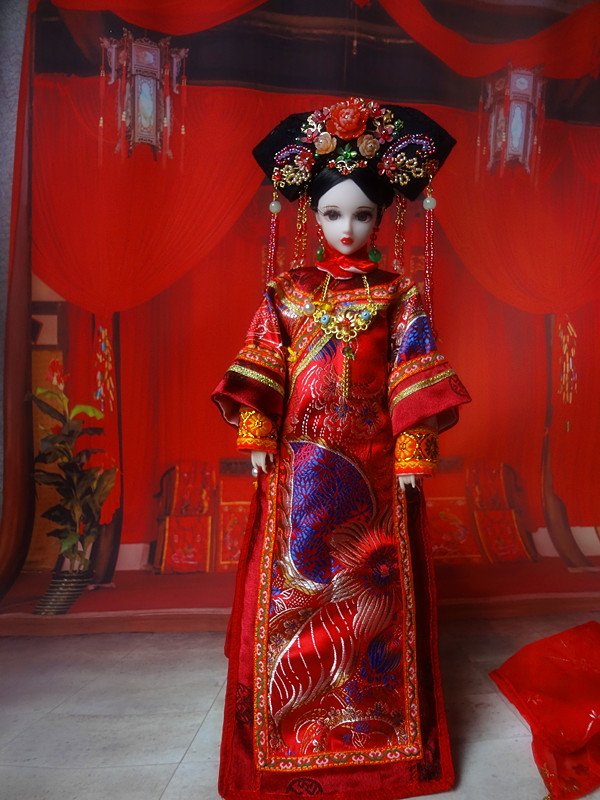 32cm Handmade Collectible Chinese Bjd Dolls Vintage Qing Dynasty Princess Dolls Girl Toys Christmas Gifts 374 35cm handmade chinese dolls tang dynasty princess doll orient ancient costume bjd dolls for girl christmas gifts