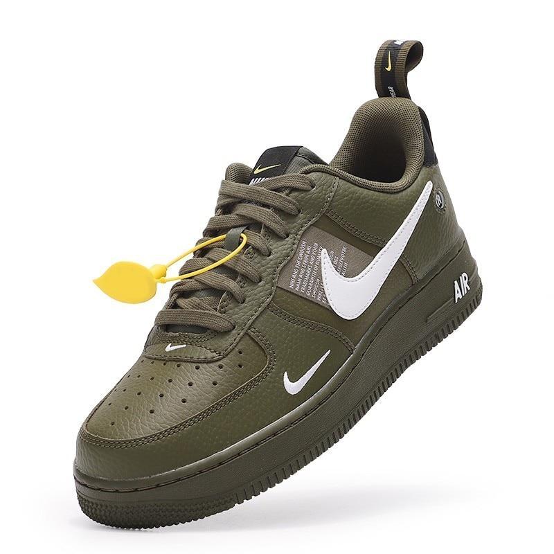 Nike Air Force 1 Utility Volt Neon Low Mens Breathable Streetwear Sneakers