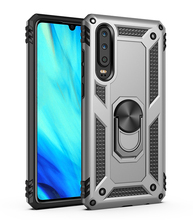 Shock proof Armor Bracket Absorption TPU+PC 360° Rotating Case For Huawei P30 Anti knock Silicone Hard Back