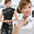 NEW Lace Womens Mini Qipao Cheongsam Evening Dress Chinese traditional dress Size S M L XL XXL D-1130
