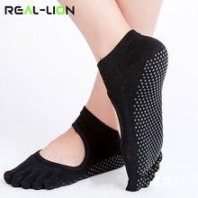 d524aef98 Reallion de Yoga mujeres Yoga calcetines Anti-deslizamiento cinco dedos sin  respaldo de silicona antideslizante
