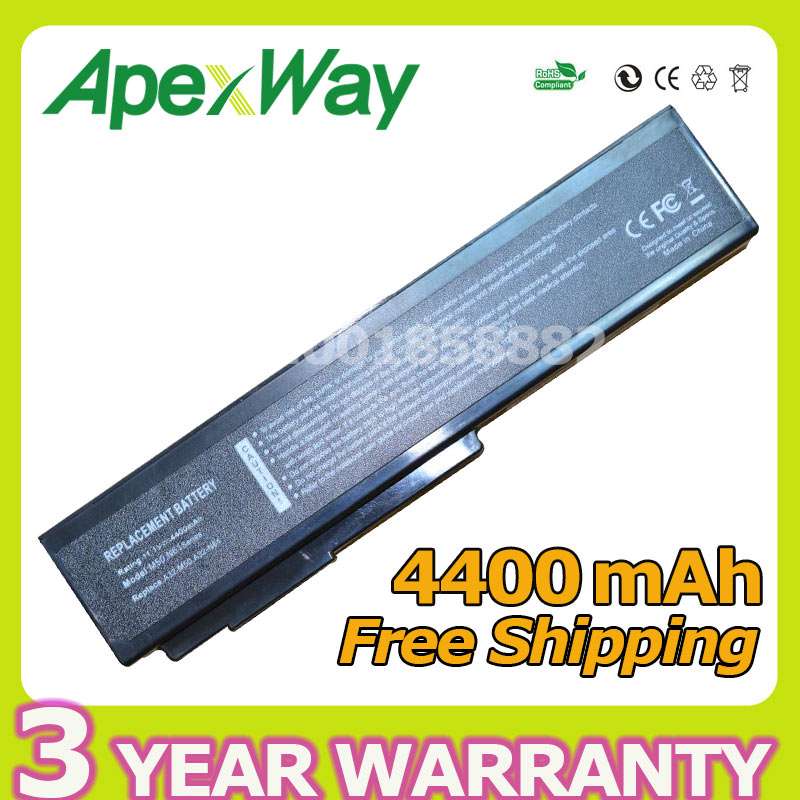 Apexway 6 cells laptop battery For Asus A32-M50 A32-N61 A32-X64 A33-M50 L062066 L072051 G51 M50 M60 N43 N53 N61 X57 X64 Series