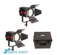 2 Pcs CAME TV Boltzen 150w Fresnel Focusable LED Daylight Kit Led video light