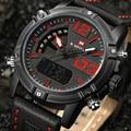 2017 naviforce marca cuarzo de los hombres led digital reloj de los hombres del ejército militar deportes relojes hombre de cuero relogio masculino montre homme