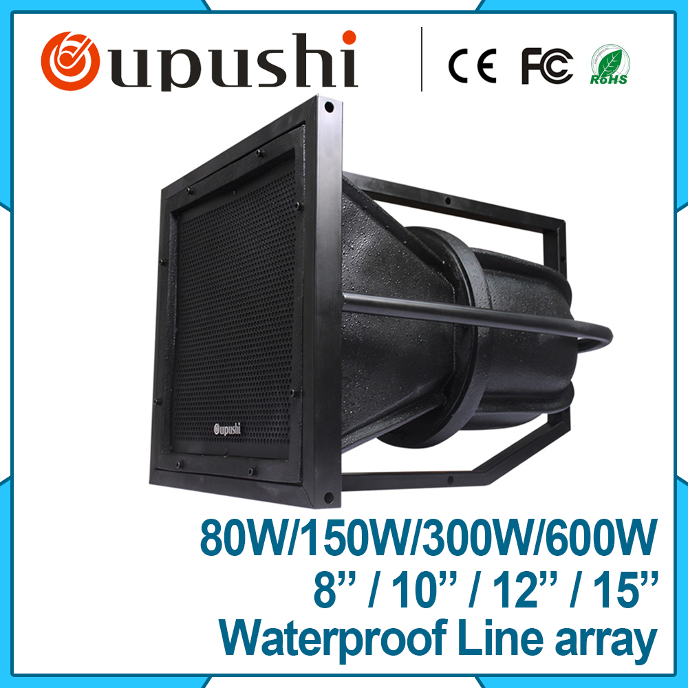 Best selling linear array background sound system pa horn speaker 300w  CT-610