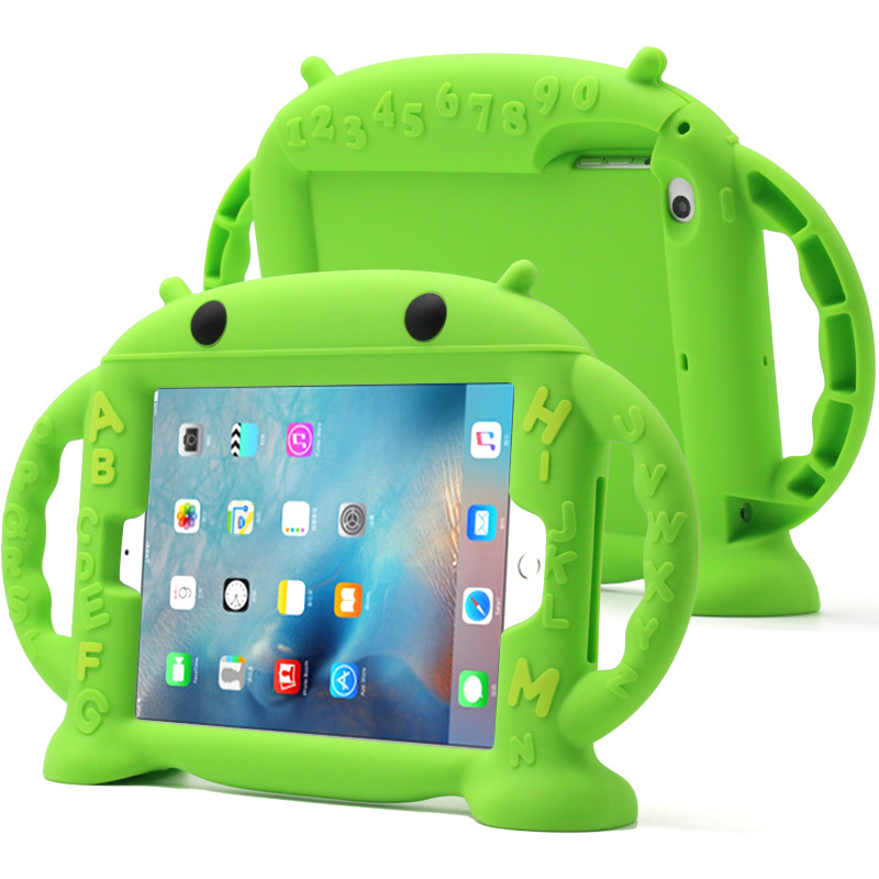 Hyleton Shockproof Kid Baby Safe Case for iPad Mini 1 2 3 4 Handles Stand Soft Cover Tablet Silicone Case for iPad mini 4