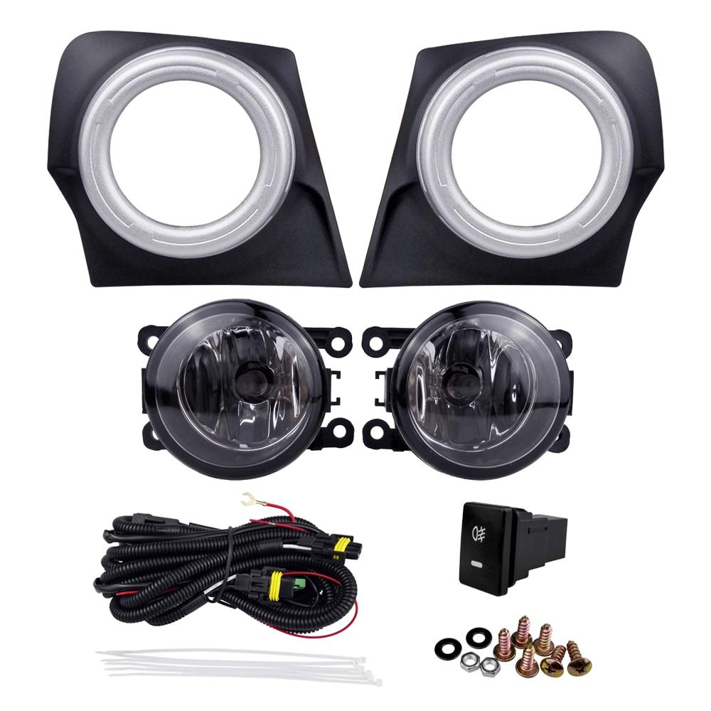 Fashion Car Accessories for Mitsubishi Triton L200 2015 Fog Lamp Assembly Cover Super Bright Plating 4300K 55W External Light