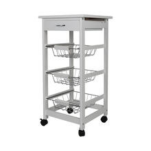 New Kitchen Trolley Cart Three-layer Dining Shelf Rack with