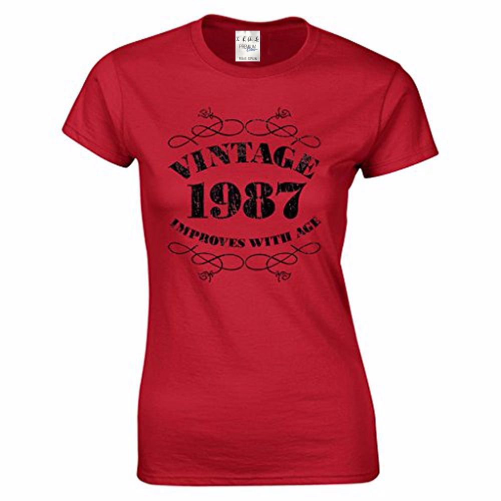 New Women's 30th Birthday T Shirt Vintage 1987 T Shirts
