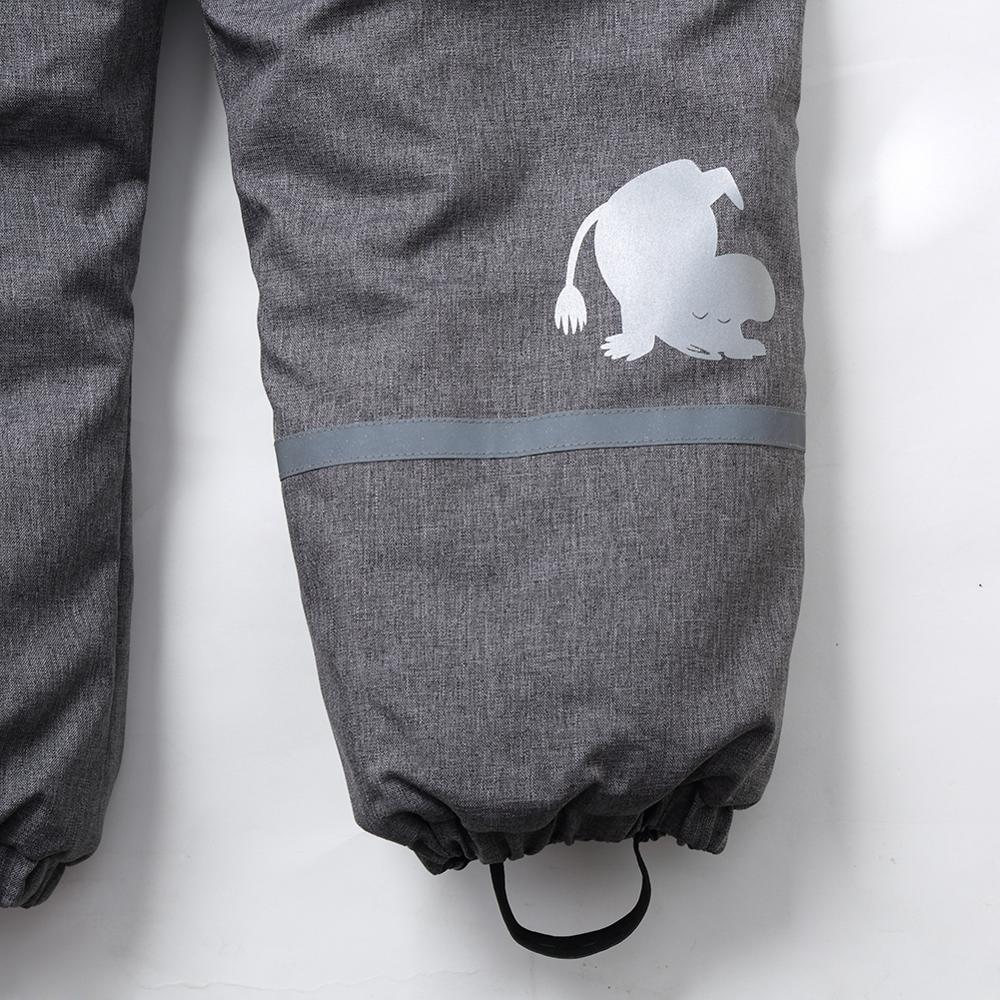 Image 5 - Moomin muumi gray winter overall boys winter jumpsuit waterproof 140cm warm boys winter overall kid  30 degree cartoon overall-in Overalls from Mother & Kids