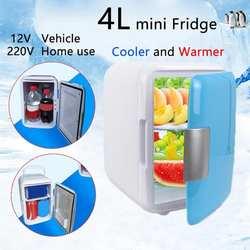 4L мини для дома и автомобиля Ультра тихий Usb холодильники с низким уровнем шума автомобильные холодильники с морозильной камерой