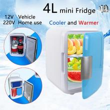 4L Mini Heating Box Fridge Home & Car Ultra Quiet Refrigerators Low Noise Cold Storage Cosmetic Refrigerator