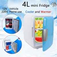 4L Mini maison & voiture double usage Ultra silencieux réfrigérateurs de voiture à faible bruit voyage congélateur refroidissement boîte de chauffage réfrigérateur